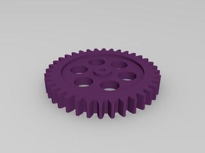 36齿齿轮+12齿-3d打印模型
