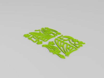3D打印蝴蝶-3d打印模型