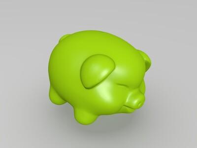 可爱小猪存钱罐-3d打印模型