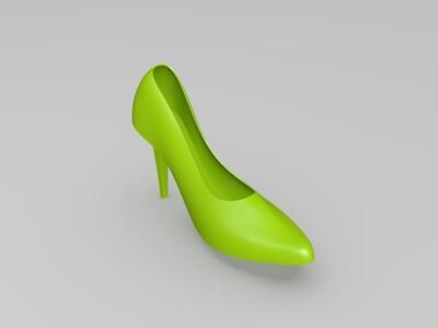 红色高跟鞋-3d打印模型