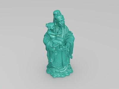 福禄寿-3d打印模型