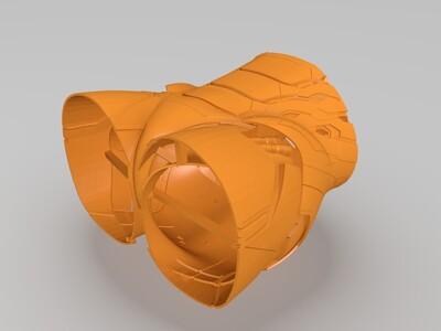 1:1钢铁侠MK45盔甲,全高1.8米,切割版-3d打印模型