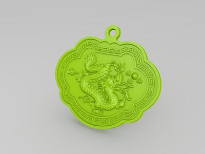 新版饰品挂件十二生肖浮雕3D模型-3d打印模型