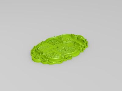 私人定制专属你的立体浮雕相片挂件-3d打印模型
