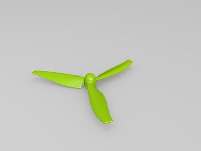 三叶螺旋桨-3d打印模型