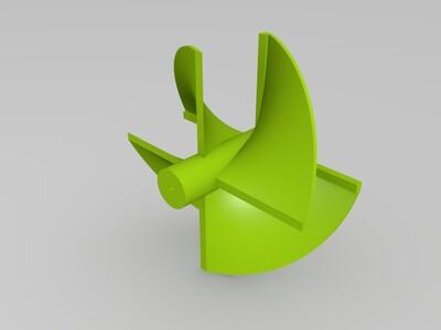 高效船模螺旋桨-3d打印模型