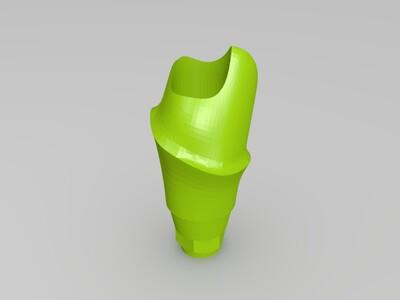 口腔修复个性化基台-3d打印模型