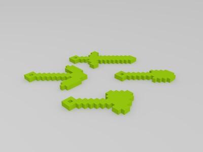 我的世界挂件 钥匙件-3d打印模型