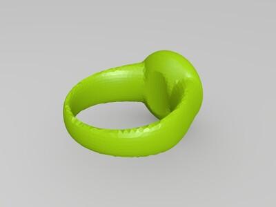 水滴戒指复刻-3d打印模型