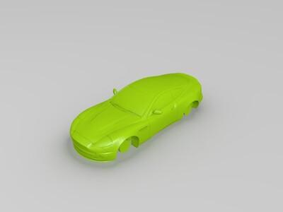 可以拼装的阿斯顿马丁车模-3d打印模型