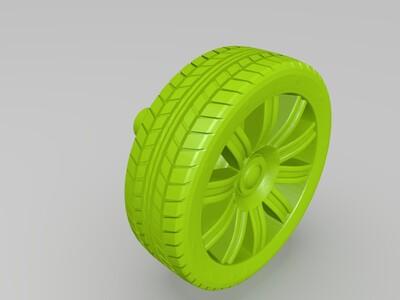 宝马5系车模-3d打印模型