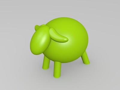 小羊-3d打印模型