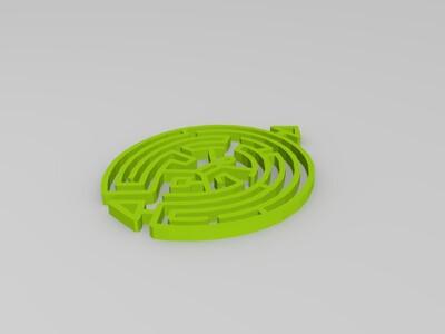 西部世界 迷宫耳环吊坠 Westworld-3d打印模型