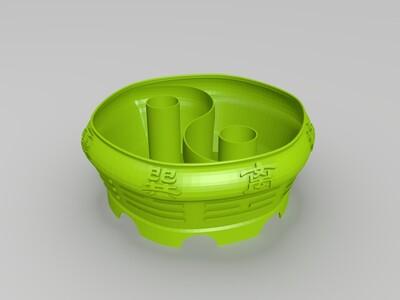 八卦图花盆-3d打印模型