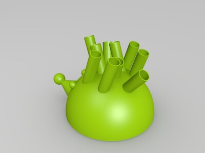 刺猬笔筒-3d打印模型