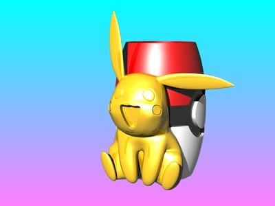 神奇宝贝-杰尼龟 笔筒-3d打印模型