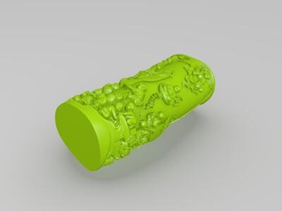 百子笔筒-3d打印模型