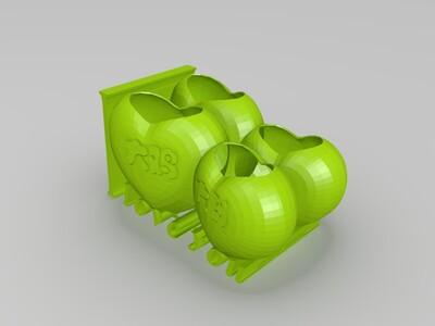 鸡年大吉花盆-3d打印模型