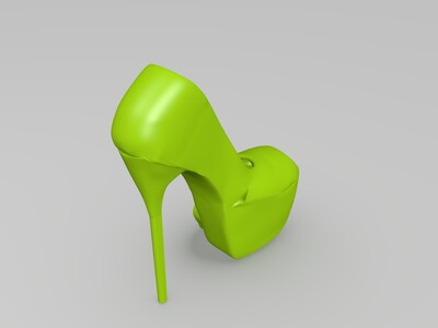 鱼嘴细跟高跟鞋-3d打印模型