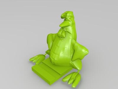 鸡-手机架-3d打印模型