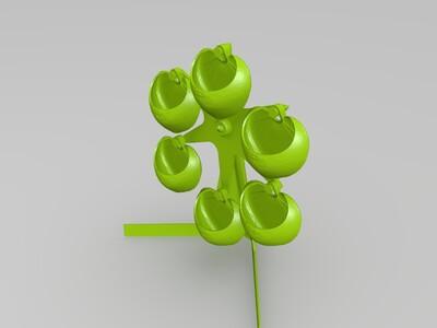 摩天轮花盆-3d打印模型