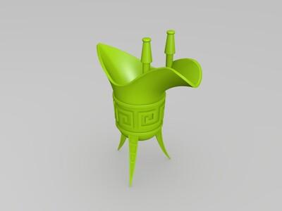 青铜爵-3d打印模型