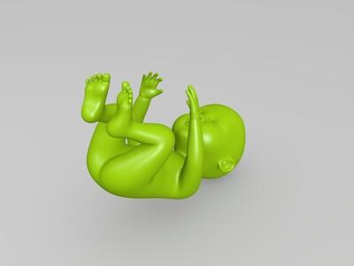 婴儿-3d打印模型