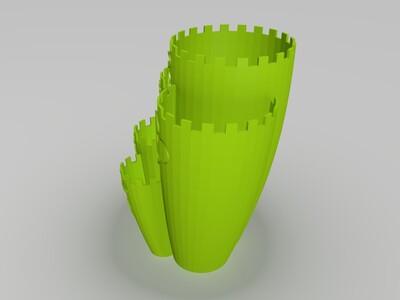 迪斯尼城堡花盆-3d打印模型