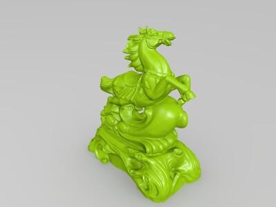 马到成功-3d打印模型