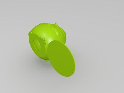 鸡-存钱罐-3d打印模型
