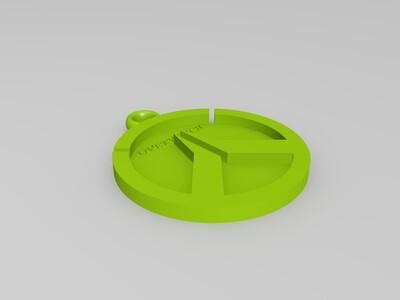 守望先锋 挂件LOGO三件套可定制-3d打印模型