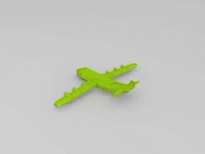 空中炮艇机-3d打印模型