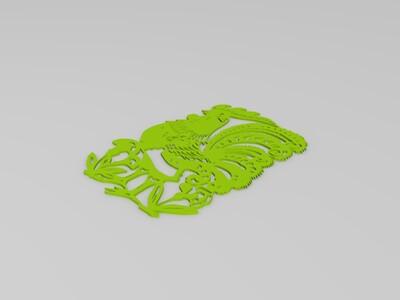鸡窗花-3d打印模型