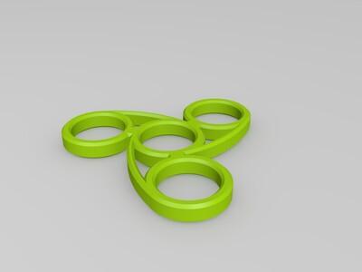 指尖陀螺 曲线-3d打印模型