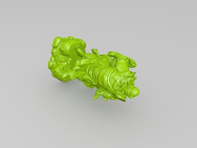 高清披风关公带底座-3d打印模型
