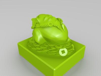 新年招财蟾蜍-3d打印模型