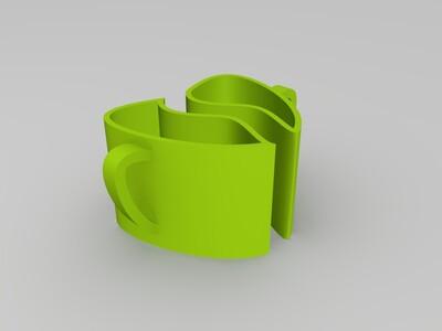 情侣杯-3d打印模型