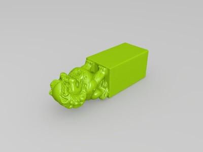 狮子印章-3d打印模型