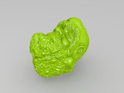 高清达摩祖师头像-3d打印模型
