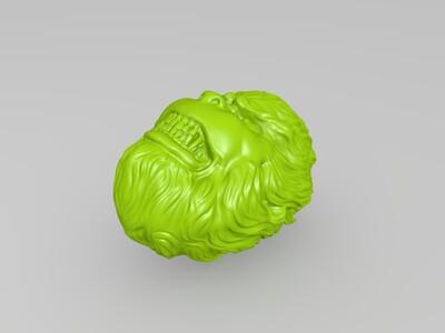 高清大圣头像-3d打印模型