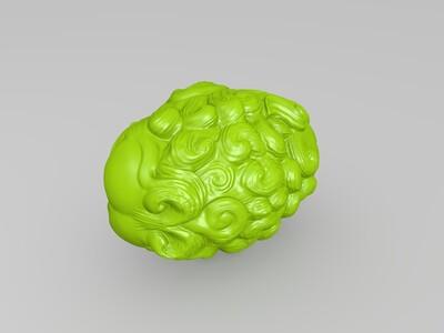 高清狮子雕塑-3d打印模型