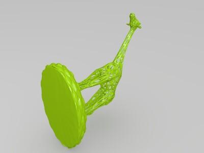 长颈鹿-3d打印模型