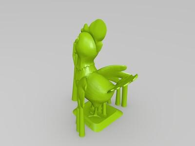 新春 公鸡-3d打印模型