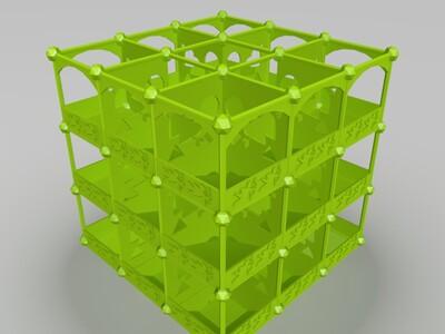 九宫格花盆-3d打印模型