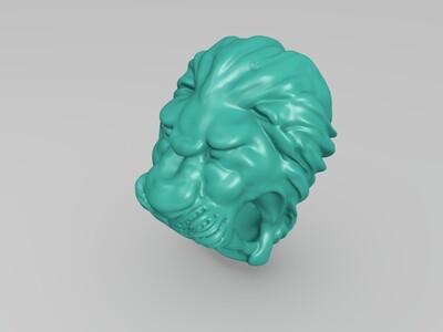 狮子戒指-3d打印模型