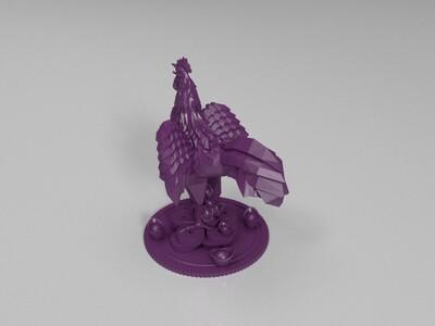 金鸡送财-3d打印模型