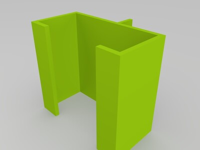 三角洲電源開關配件盒子-3d打印模型