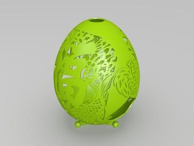 蛋雕工艺花盆-3d打印模型