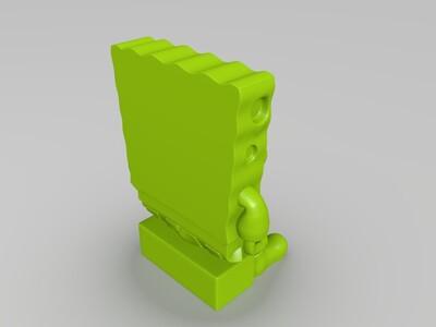 海绵宝宝-3d打印模型