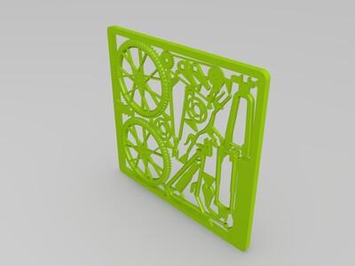拼装山地自行车-3d打印模型